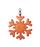 Брелок Снежинка, оранжево-коричневая