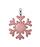 кожаный Брелок Снежинка, розово-бирюзовая в Интернет-магазине UNIQUE U