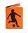 Обложка на паспорт Футболист, оранжевая