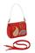 Кожаная сумка №29 красная ,