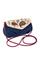 Кожаная женская сумка №34 Пейсли синяя-бежевая  в интернет-магазине Unique U дизайнера Елены Юдкевич Фото 1