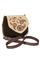 Кожаная сумка №31 бежево-кориневая, Пейсли