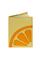 Кожаная обложка на паспорт №2, Лимон