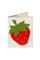 Кожаная обложка на паспорт №2, Земляника