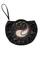 Фото 1 Кожаная женская  сумка-клатч №44 Пейсли, чёрная в интернет-магазине Unique U дизайнера Елены Юдкевич