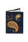 Кожаная обложка  на паспорт №1, Пейсли синяя