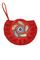 Кожаный женский клатч-сумка красный №44, ПЕЙСЛИ