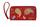 Кожаный женский кошелек №2 красный, Пейсли