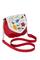 Фото 1 Кожаная сумка №31, Вальс цветов, красная в интернет-магазине Unique U