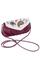 Кожаная женская сумка №34 малиновая, Пейсли