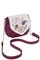 Фото 1 Кожаная женская сумка №31, Пейсли, малиновая в Интернет-магазине UNIQUE U