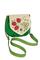 Кожаная с замшем женская сумка №31, Хохлома