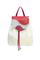 Кожаный женский рюкзак белый № 47, восторг