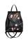 Кожаный рюкзак №47, Японские птички, чёрный в интернет-магазине Unique U дизайнера Елены Юдкевич Фото 1