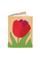 КОЖАНАЯ ОБЛОЖКА НА ПАСПОРТ бежевая №2, Тюльпан красный в интернет-магазине Unique U дизайнера Елены Юдкевич Фото 1