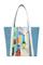 Кожаная женская сумка голубая №42, Лиссабон