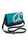 кожаная женская сумка бирюзовая м.48