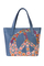 Кожаная женская сумка №42 голубая,
