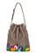 кожаная женская сумка бежевая м.52