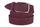 женский пояс из нубука цвета марсала 3,5см