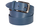кожаный женский пояс голубой 3,5см