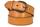кожаный женский ремень горчичный 4см