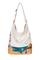 кожаная женская сумка кремовая м.53
