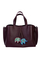 Кожаная женская сумка м.58 бордо с комплектом подвесок