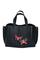Кожаная женская сумка м.58 черная с комплектом подвесок
