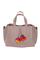 Кожаная женская сумка м.58 пудра с комплектом подвесок