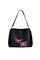 Кожаная женская сумка м.59 черная с комплектом подвесок