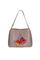 Кожаная женская сумка м.59 беж с комплектом подвесок