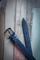 кожаный женский пояс синий 3см