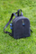 Рюкзак кожаный м.62 темно-синий с ягодками