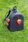 Рюкзак кожаный м.62 темно-синий с клубничками