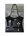 Кожаная сумка №2 черная, Ночной город