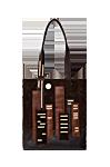 Кожаная сумка №12 коричневая, Ночной город