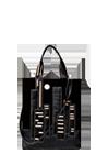 Кожаная сумка №12 черная, Ночной город
