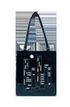 Кожаная женская сумка чёрная №1, Ночной город