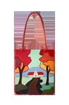 сумка кожаная Осень, м.№1