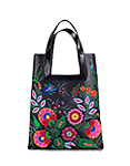 женская кожаная сумка м.18 черная