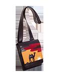кожаная сумка мужская  м.№20, Закат в пустыне