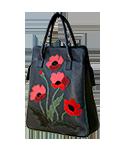 Кожаная сумка №3, Маки
