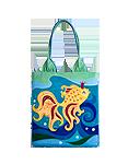 Кожаная сумка №1а, Золотая рыбка