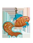 Кожаный брелок, Золотая рыбка