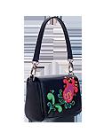Кожаная женская  сумка чёрная №29, Аленький цветочек