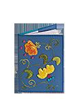 Кожаная обложка  на паспорт №1, Вальс цветов