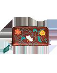 Кожаный  кошелёк №2, Вальс цветов