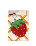 Кожаная обложка  на паспорт №1, Клубника