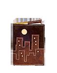 Кожаная обложка  на паспорт №1, Ночной город